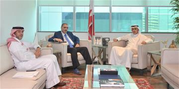 The Minister of Industry, Commerce & Tourism receives the Chairman of Bahrain Bourse