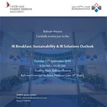 IR Breakfast: Sustainability & IR Solutions Outlook